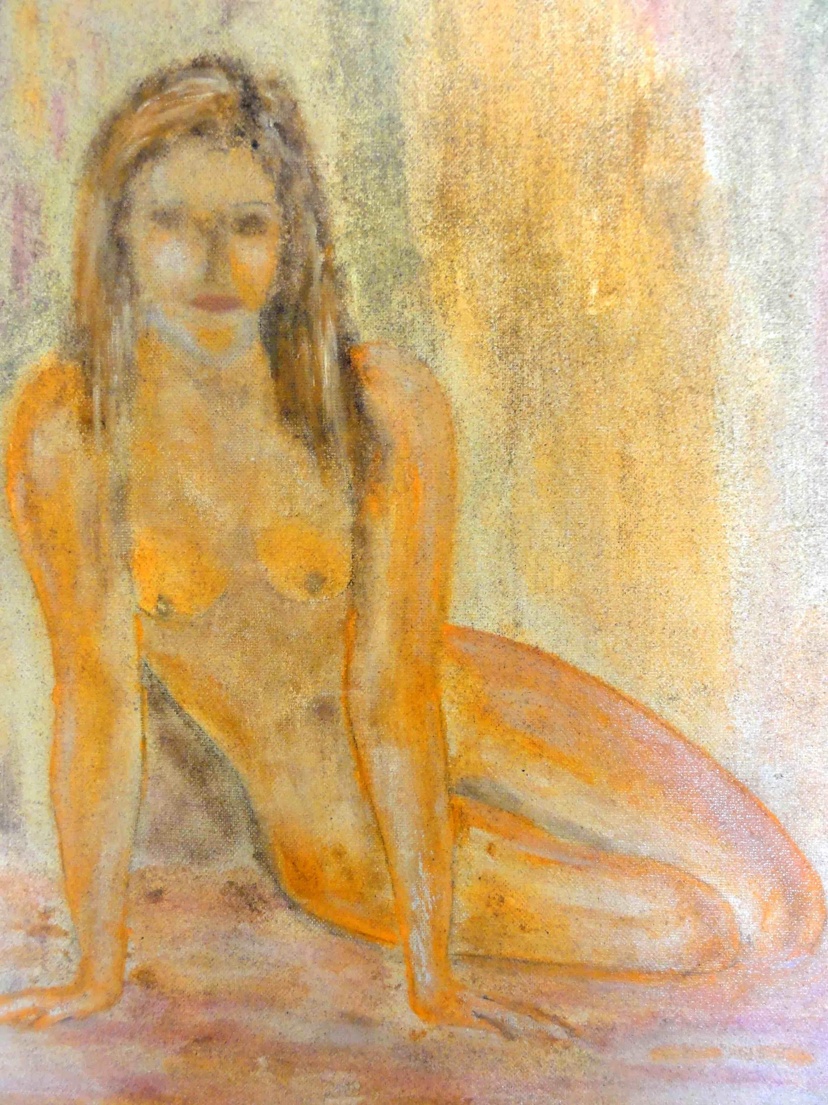 Cuadros Desnudo De Mujer Sentada